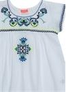 Peruvian Beyaz İşlemeli Kız Çocuk Plaj Elbisesi