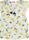 Sicilian Beyaz Baskılı Kız Çocuk Plaj Elbisesi