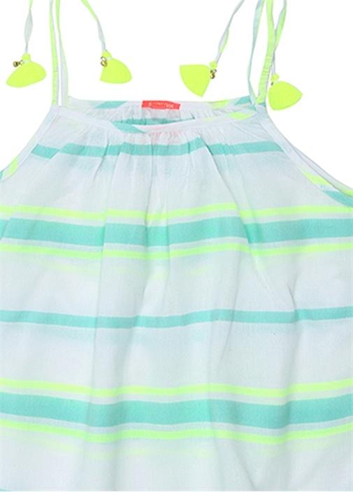 Beyaz Yeşil Püsküllü Kız Çocuk 2li Set