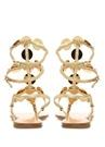 Patos Gold Plak Detaylı Kadın Deri Sandalet