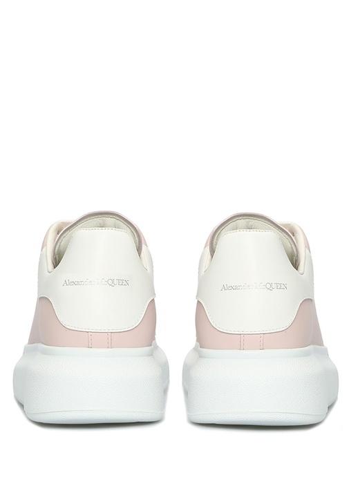 Oversize Pembe Kadın Deri Sneaker