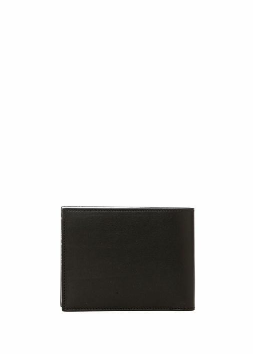 Siyah Logolu Renk Garnili Erkek Deri Cüzdan