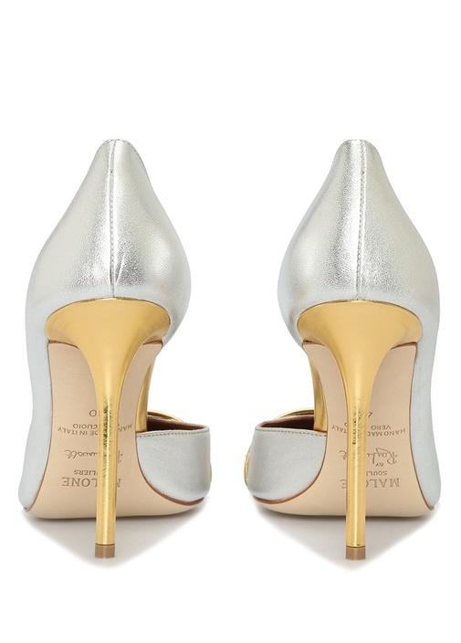 Morrissey Silver Gold Deri Topuklu Ayakkabı