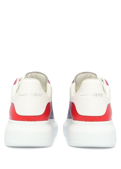 Oversize Colorblocked Erkek Deri Sneaker