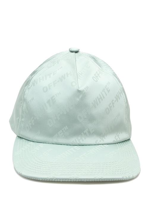 Yeşil Mikro Logo Jakarlı Kadın Şapka