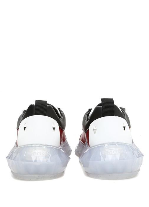 Diamond Kırmızı Taban Detaylı Erkek Deri Sneaker