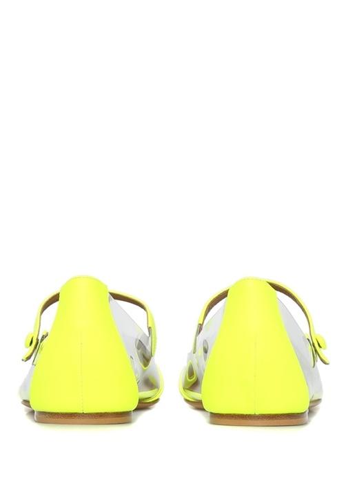 Hermione Neon Sarı Transparan Detaylı Kadın Babet