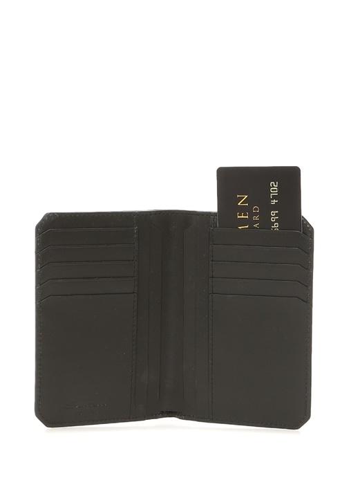Lacivert Logolu Erkek Deri Pasaportluk