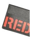 Siyah Kırmızı Logolu Erkek Deri Kartlık