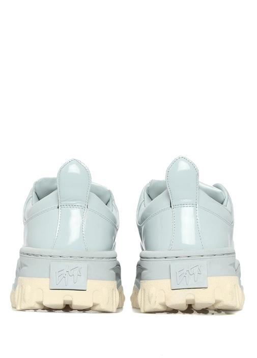 Angel Mavi Kalın Tabanlı Kadın Deri Sneaker