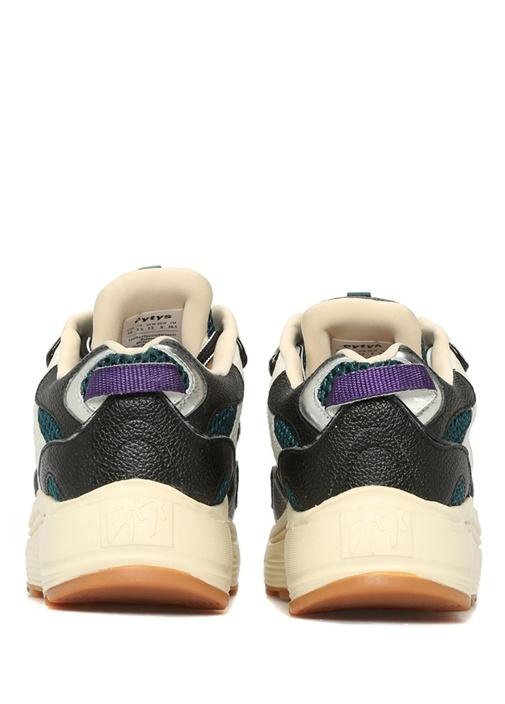 Jet Lacivert Beyaz File Detaylı Kadın Sneaker