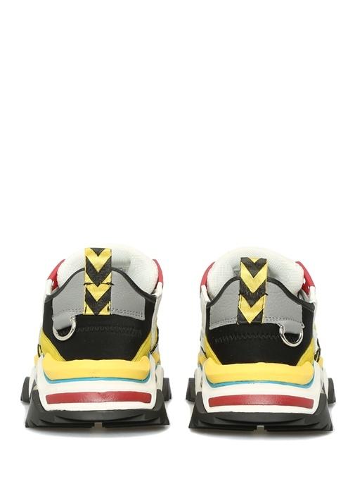 Colorblocked File Garnili Kadın Deri Sneaker