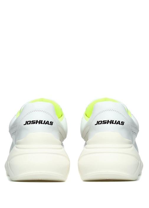 Beyaz Renk Detaylı Kadın Deri Sneaker