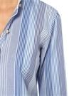 Mavi Beyaz Çizgili Gold Düğmeli Gömlek