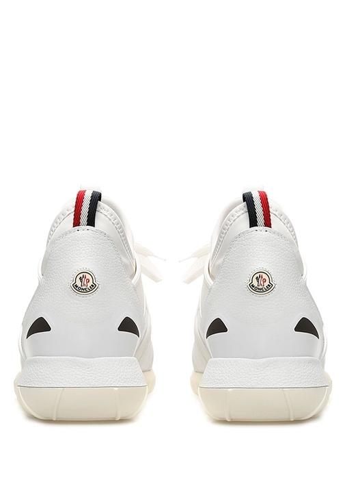 Emilien Beyaz Logolu Erkek Deri Sneaker