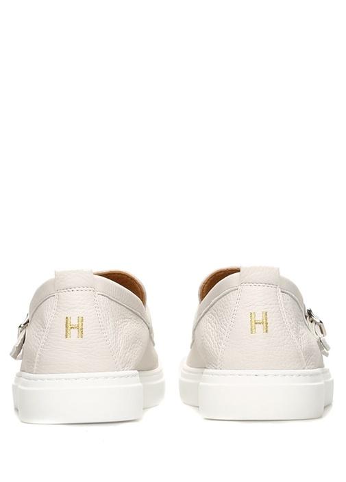 Cliff Beyaz Erkek Deri Sneaker