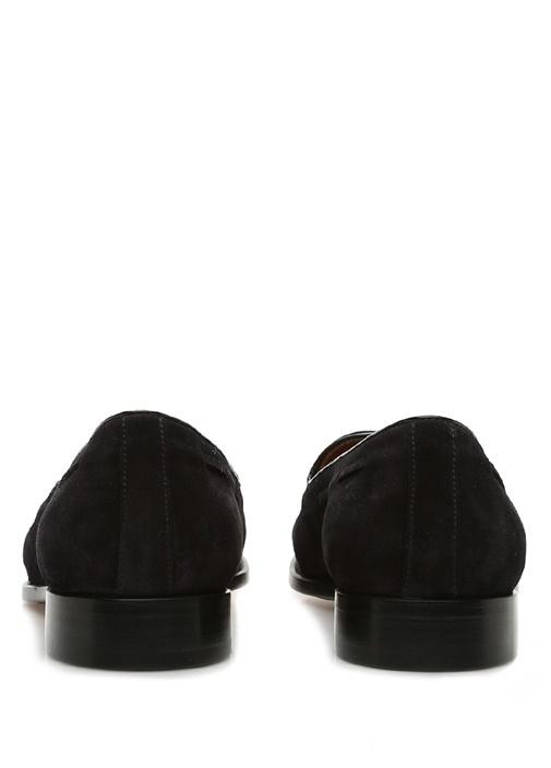Lacivert Püskül Detaylı Erkek Nubuk Loafer