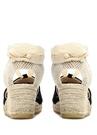 Siyah Hasır Tabanlı Kadın Süet Sandalet