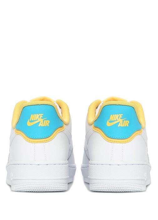 Air Force 1 07 Beyaz Mavi Kadın Deri Sneaker