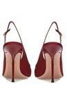 Mondaine Kırmızı Fiyonk Detaylı Topuklu Sandalet