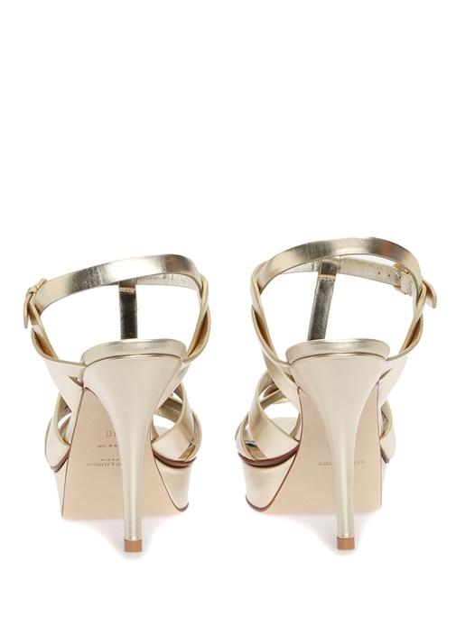Tribute Gold Kadın Deri Sandalet