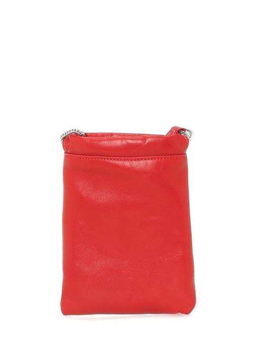 Kırmızı Logolu Kadın Deri Bel Çantası