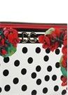 Portofino Kırmızı Beyaz Baskılı Kadın Deri Cüzdan