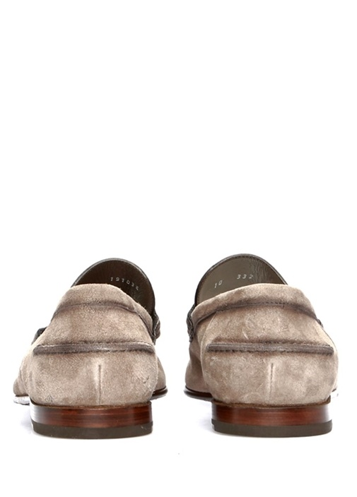 Vizon Bant Detaylı Erkek Süet Loafer
