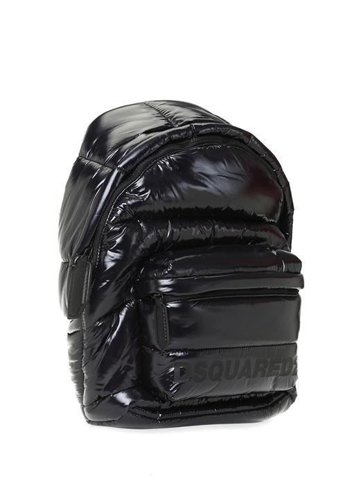 Siyah Logolu Erkek Puff Sırt Çantası