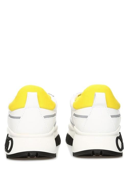 Raine Beyaz Reflektif Detaylı Kadın Deri Sneaker