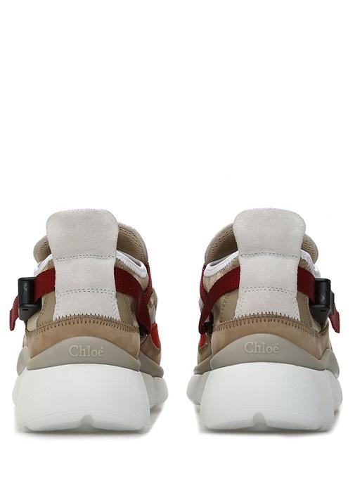 Sonnie Bej Klips Detaylı Kadın Deri Sneaker