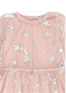 Pembe Yıldız Baskılı Kız Çocuk Tül Elbise