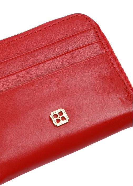 Kırmızı Logolu Kadın Deri Kartlık