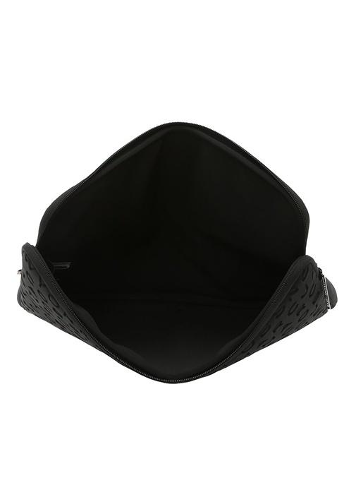 Siyah Logo Baskılı Kadın Laptop Kılıfı