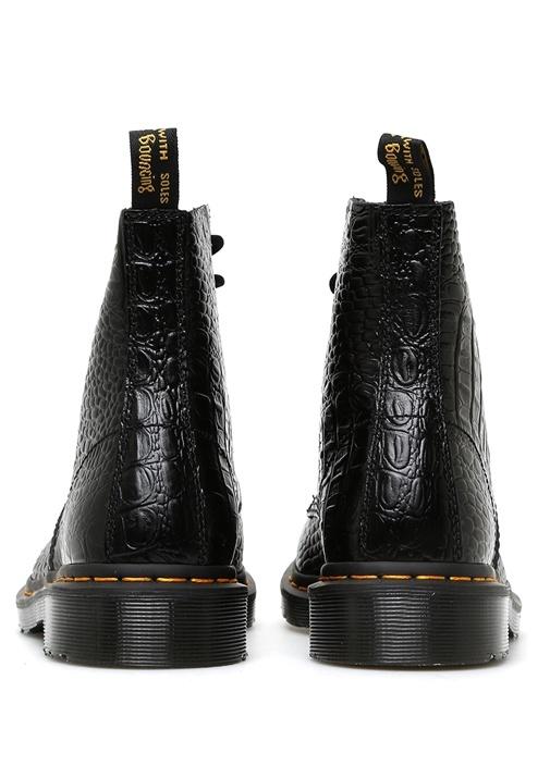 Siyah 1460 Pascal Croc Deri Kadın Bot