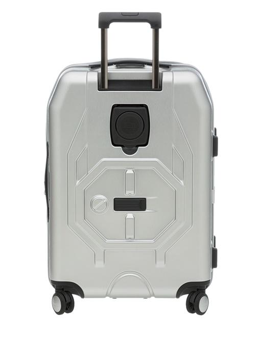 Compass Small Metalik Gri Unisex Bavul