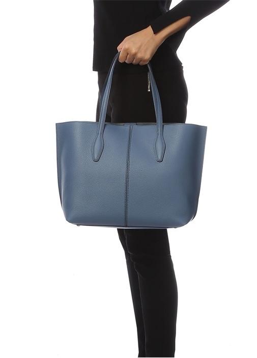 Joy Medium Mavi Kadın Deri Çanta