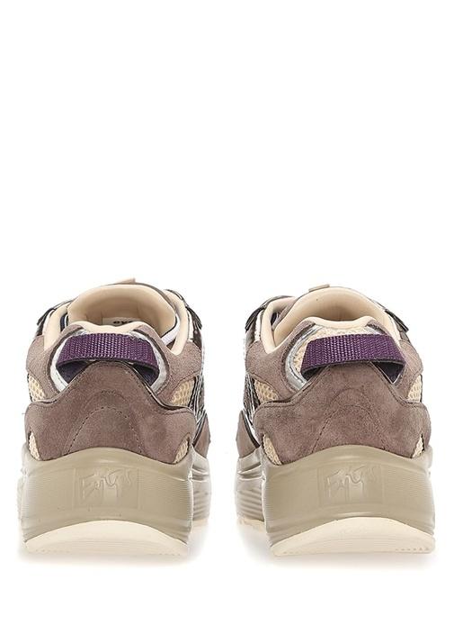 Jet Vizon File Dokulu Süet Kadın Sneaker