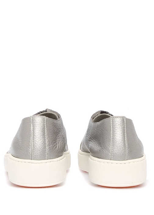 Silver Bağcık Detaylı Kadın Deri Sneaker
