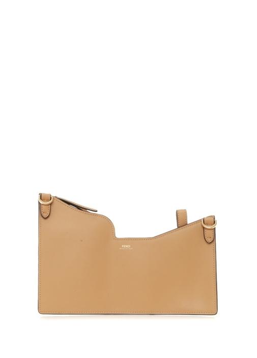 Mini Taba Logolu Kadın Deri Omuz Çantası