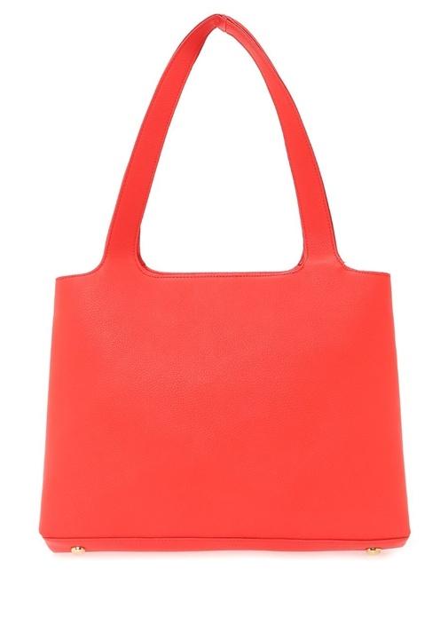 Roxy Kırmızı Dokulu Alışveriş Çantası