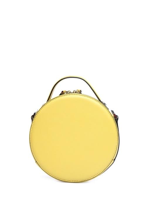 Lotte Sarı Kadın Deri El Çantası