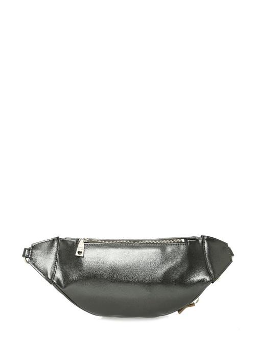 Silver Logo Patchli Kadın Bel Çantası