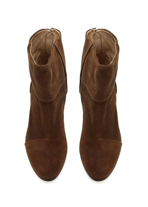 Kahverengi Classic Newbury Topuklu Süet Kadın Bot