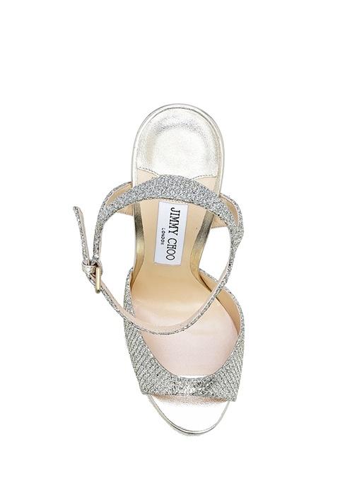 Jenna Silver Platformlu Kadın Gece Ayakkabısı