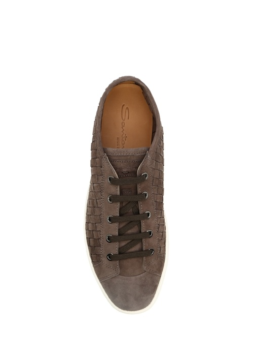 Kahverengi Süet Deri Erkek Sneaker