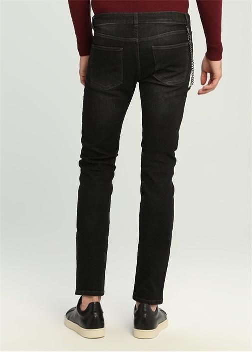 Slim Fit Drop 8 Siyah Normal Bel Jean Pantolon