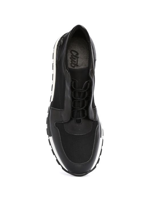 Siyah Dalgıç Kumaş Erkek Sneaker