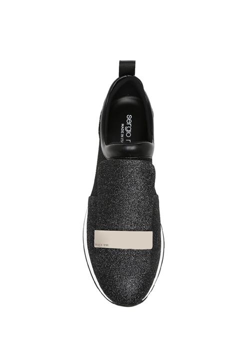 Metal Detaylı Siyah Kadın Sneaker