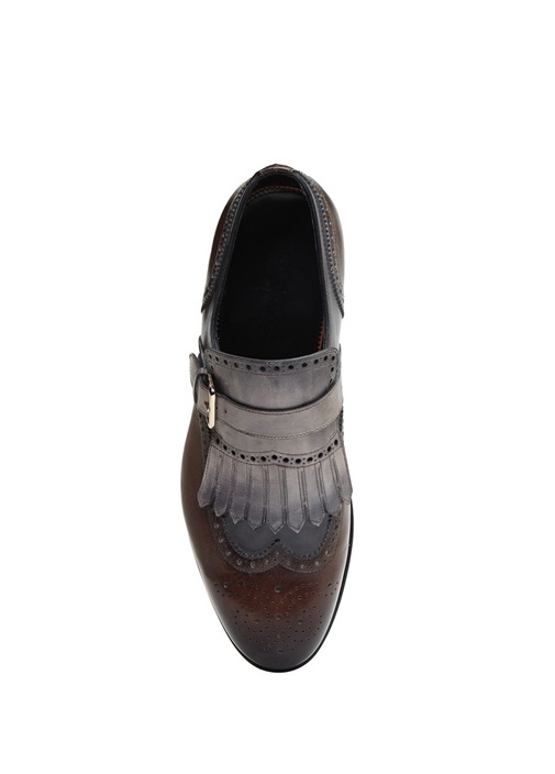 Kahverengi Püskül Detaylı Erkek Deri Ayakkabı